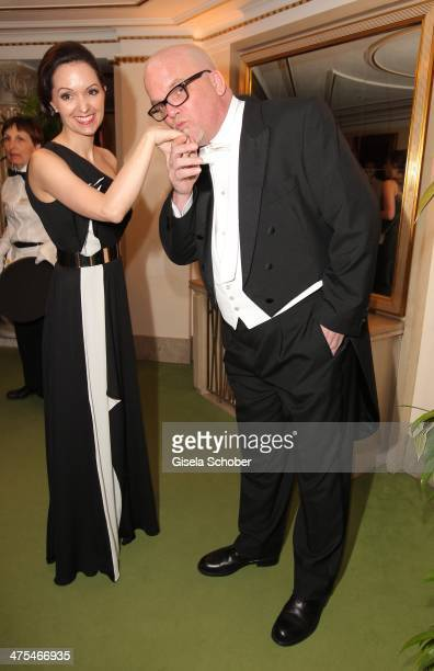 Sonja Friedle and husband Gerry Friedle attend the traditional Vienna Opera Ball at Vienna State Opera on February 27 2014 in Vienna Austria