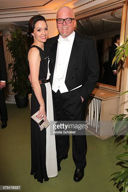Sonja Friedle and husband Gerry Friedle attend the traditional Vienna Opera Ball at Vienna State Opera on February 27, 2014 in Vienna, Austria.
