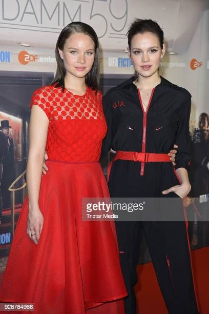 Sonja Gerhardt and Emilia Schuele during the premiere of 'Ku'damm 59' at Cinema Paris on March 7 2018 in Berlin Germany