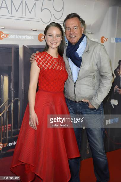 Sonja Gerhardt and Nico Hofmann during the premiere of 'Ku'damm 59' at Cinema Paris on March 7 2018 in Berlin Germany
