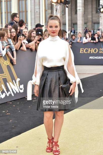 Sonja Gerhardt arrives at the Echo Award 2018 at Messe Berlin on April 12 2018 in Berlin Germany