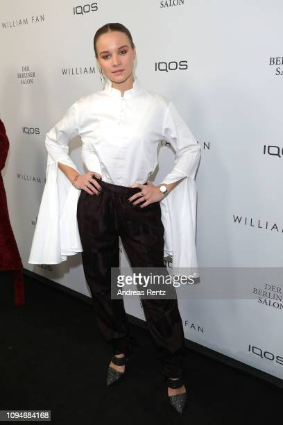 Sonja Gerhardt attends the William Fan Defile during 'Der Berliner Salon' Autumn/Winter 2019 at Knutschfleck on January 15 2019 in Berlin Germany