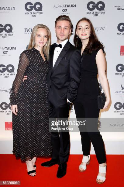 Sonja Gerhardt Jannik Schuemann and Maria Ehrich arrive for the GQ Men of the year Award 2017 at Komische Oper on November 9 2017 in Berlin Germany
