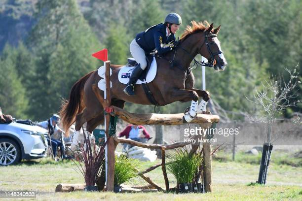 Sonja Johnson rides Misty Isle Valentino in the CCI 4* during the National Three Day Event Championships on May 11 2019 in Taupo New Zealand
