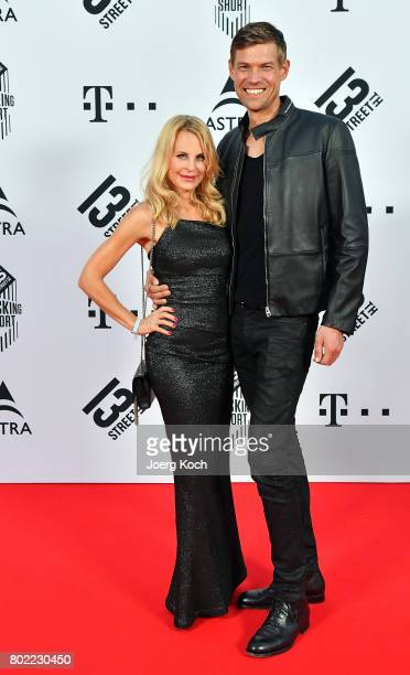 Sonja Kiefer and Cedric Schwarz attend the Shocking Shorts Award 2017 during the Munich Film Festival on June 27 2017 in Munich Germany