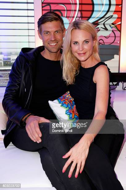 Sonja Kiefer and Cedric Schwarz during the Audemars Piguet and Wempe OldSchool Hip Hop Party at Skyloftstudios on July 26 2017 in Munich Germany