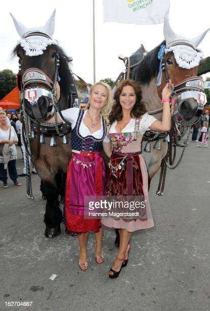 Sonja Kiefer and Gitta Saxx attends the 'Sixt Damenwiesn' as part of the Oktoberfest beer festival at Hippodrom beer tent on September 24 2012 in...