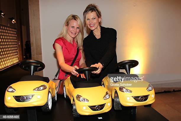Sonja Kiefer and Nina Ruge attend the presentation and vernissage of the calender 'THE ADAM BY BRYAN ADAMS' for Opel at Haus der Kunst on January 23...