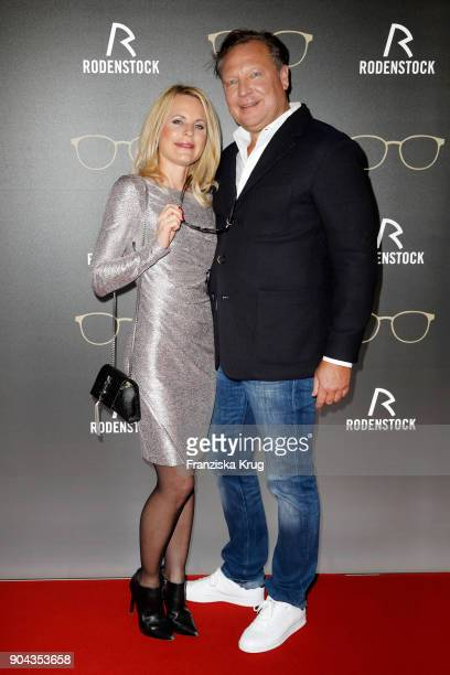 Sonja Kiefer and Oliver Kastalio CEO Rodenstock during the Rodenstock Eyewear Show on January 12 2018 in Munich Germany