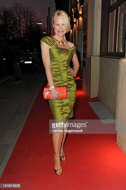 Sonja Kiefer attends the CNN Journalist Award 2012 at the GOP Variete Theater on March 27, 2012 in Munich, Germany.