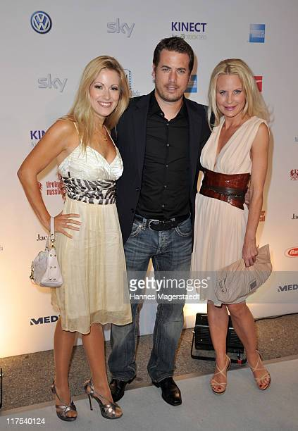 Sonja Kiefer Lars Riecken and Andrea Kaiser attend the Movie Meets Media party at P1 on June 27 2011 in Munich Germany