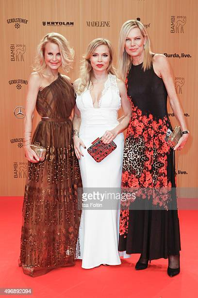 Sonja Kiefer Regina Halmich and Nina Ruge attend the Bambi Awards 2015 at Stage Theater on November 12 2015 in Berlin Germany
