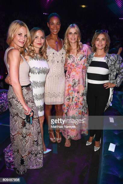 Sonja Kiefer Regina Halmich Tina Ruland Tanja Buelter and Annabelle Mandeng attend the Guido Maria Kretschmer Fashion Show Autumn/Winter 2017 at...