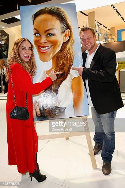 Sonja Kirchberger and Bernhard Prinz attends the Querdenker Award 2015 at BMW World on November 25, 2015 in Munich, Germany.