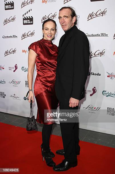 Sonja Kirchberger and her husband Jochen Nickel attend the 99Fire Films Award 2011 during day eight of the 61st Berlin International Film Festival at...