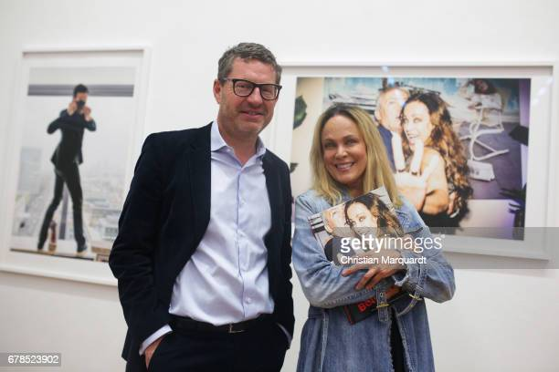 Sonja Kirchberger and Kai Diekmann attend teh 'FotoKunstBoulevard' exhibition preview and opening at MartinGropiusBau on May 4 2017 in Berlin Germany