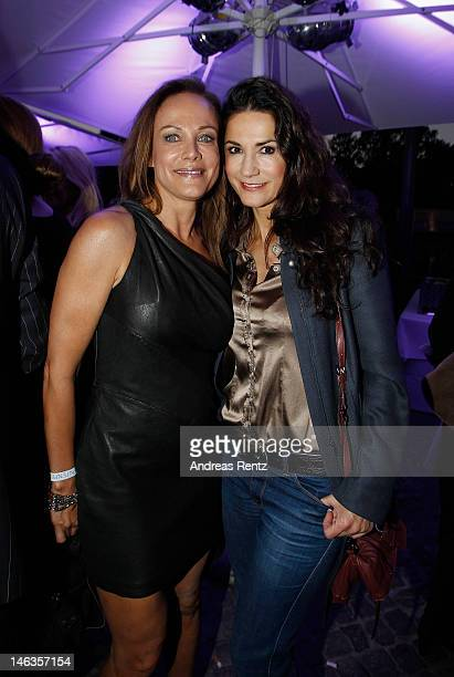 Sonja Kirchberger and Mariella von Faber-Castell attend the producer party 2012 of the German producers alliance on June 14, 2012 in Berlin, Germany.