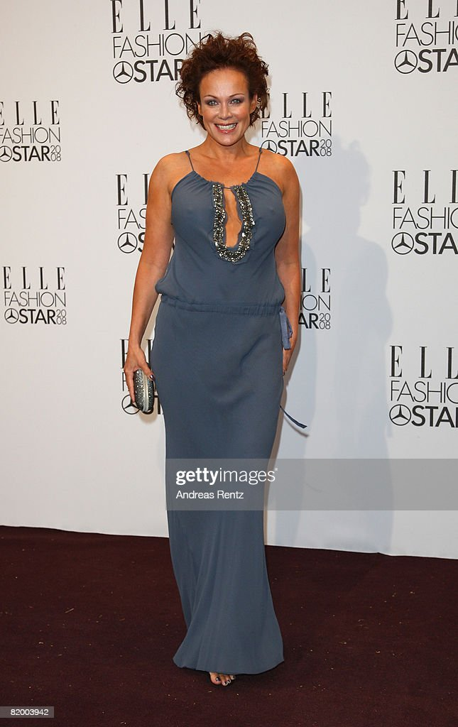 Sonja Kirchberger arrives at the ELLE Fashion Star award ceremony during Mercedes Benz Fashion Week Spring/Summer 2009 at the Tempodrom on July 19, 2008 in Berlin, Germany.
