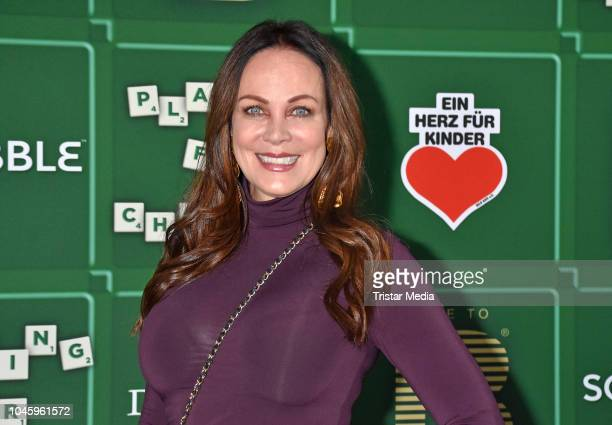Sonja Kirchberger attend the charity event PLACE TO B Playing for Charity at Restaurant GRACE on October 4 2018 in Berlin Germany