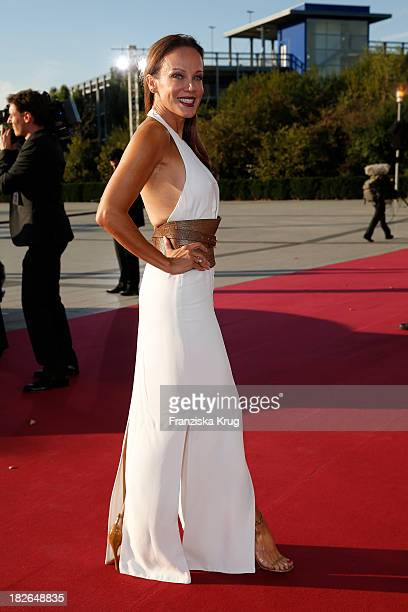 Sonja Kirchberger attends the Deutscher Fernsehpreis 2013 Red Carpet Arrivals at Coloneum on October 02 2013 in Cologne Germany