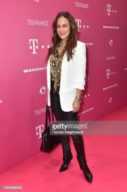 Sonja Kirchberger attends the Deutsch-Les-Landes premiere at Haus der Kunst on October 23, 2018 in Munich, Germany.