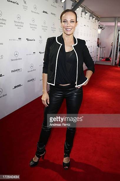 Sonja Kirchberger attends the Minx By Eva Lutz Show during the MercedesBenz Fashion Week Spring/Summer 2014 at the Brandenburg Gate on July 3 2013 in...