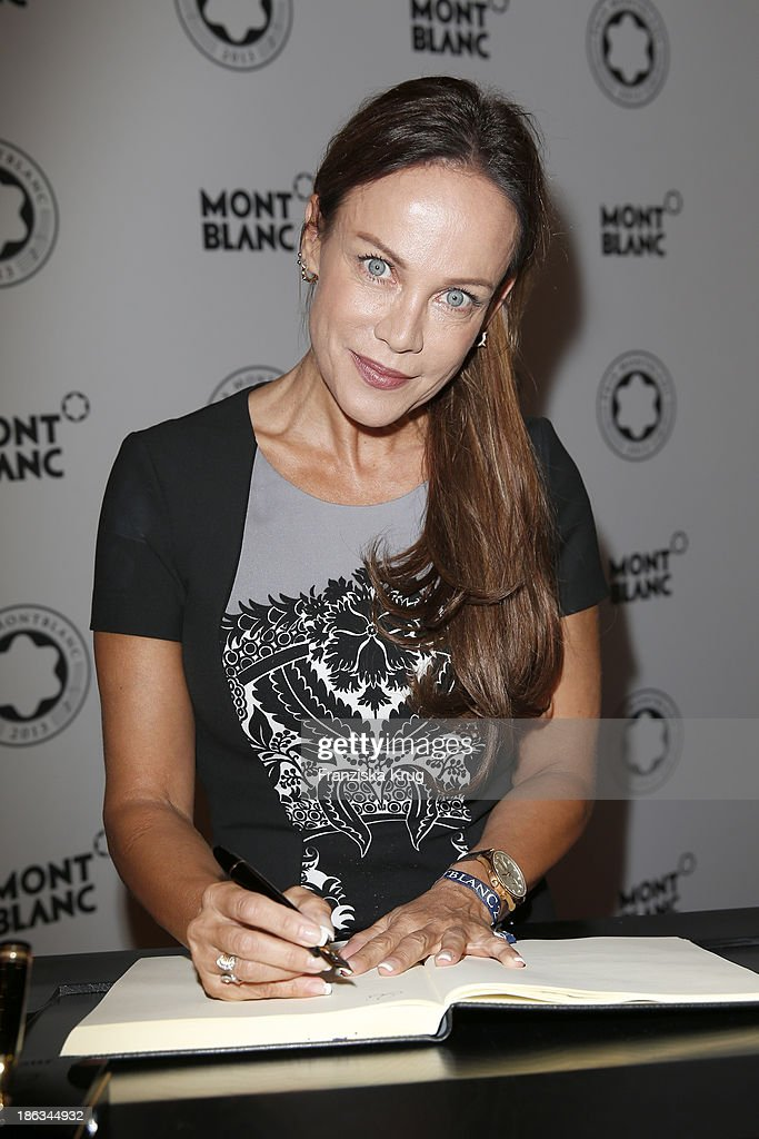 Sonja Kirchberger attends the Prix Montblanc 2013 at Konzerthaus Am Gendarmenmarkt on October 30, 2013 in Berlin, Germany.