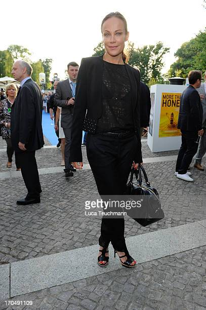 Sonja Kirchberger attends the producer party 2013 of the German producers alliance at Restaurant Auster on June 13 2013 in Berlin Germany