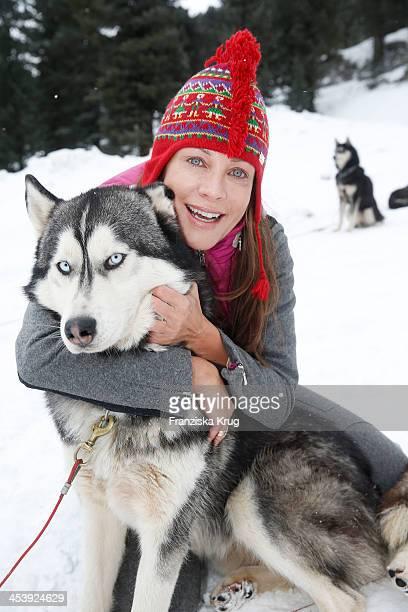 Sonja Kirchberger attends the Sledge Dog Race Training - Tirol Cross Mountain 2013 on December 06, 2013 in Innsbruck, Austria.