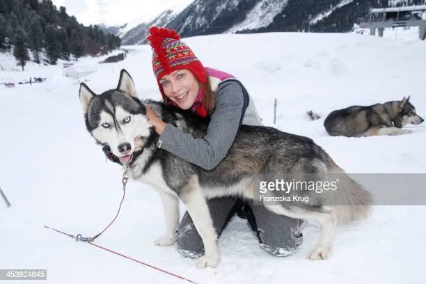 Sonja Kirchberger attends the Sledge Dog Race Training Tirol Cross Mountain 2013 on December 06 2013 in Innsbruck Austria