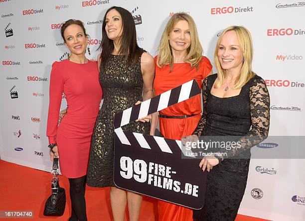 Sonja Kirchberger Bettina Zimmermann Ursula Karven and Dorkas Kiefer attend the 5th '99FireFilmsAward' Red Carpet Arrivals at Admiralspalast on...