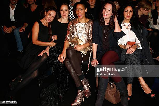 Sonja Kirchberger Jeanette Hain Annabelle Mandeng Natalia Woerner and Minu BaratiFischer attend the Minx by Eva Lutz show during MercedesBenz Fashion...