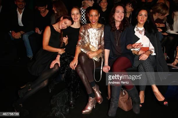 Sonja Kirchberger Jeanette Hain Annabelle Mandeng Natalia Woerner and Minu BaratiFischer attend the Minx by Eva Lutz show during MercedesBenz Fashion...