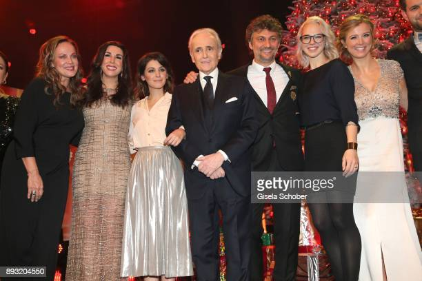 Sonja Kirchberger Judith Williams Katie Melua Jose Carreras Jonas Kaufmann Stefanie Heinzmann and Nina Eichinger during the 23th annual Jose Carreras...
