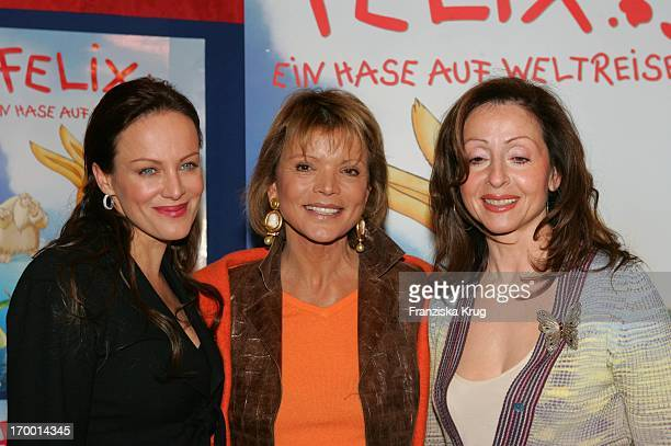Sonja Kirchberger Uschi Glas And Vicky Leandros In The Cinema Premiere Of Children film Felix A hare on world tour The Maxx cinema in Munich