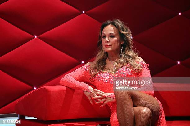 Sonja Kirchberger waits beside the stage during the 3rd show of the television competition 'Let's Dance' on April 1 2016 in Cologne Germany