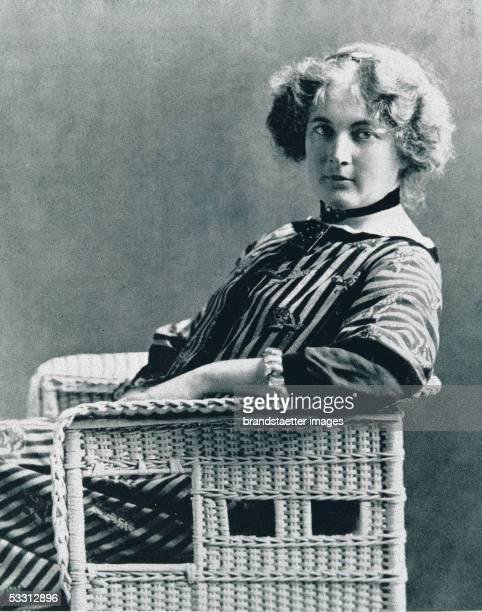 Sonja Knips in a Wiener Werkstaette dress made of cloth ant by Eduard Josef WimmerWisdgrill Photography About 1911 [Sonja Knips in einem Wiener...