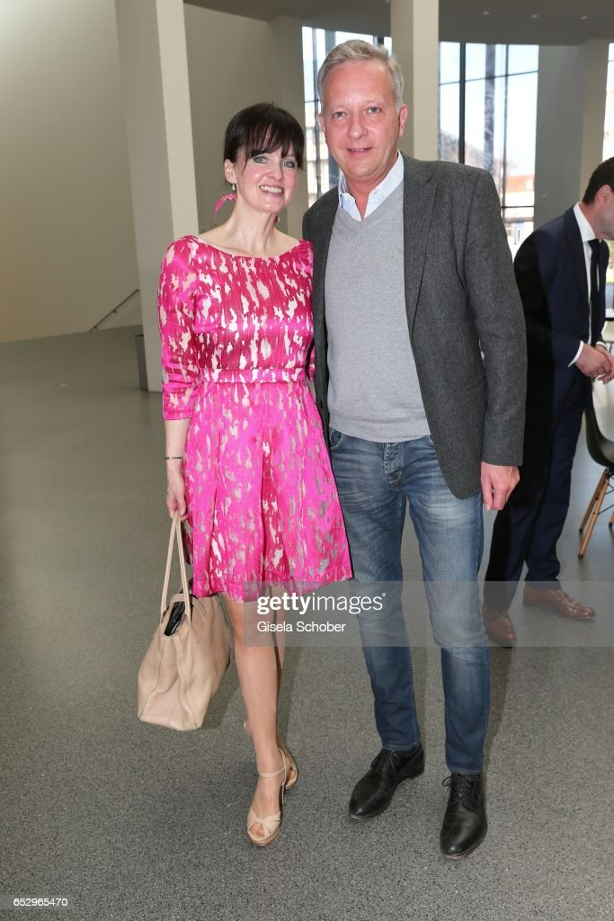 Sonja Lechner and Moritz Freiherr von Crailsheim during the Gentlemen Art Lunch at Pinakothek der Moderne on March 13, 2017 in Munich, Germany.