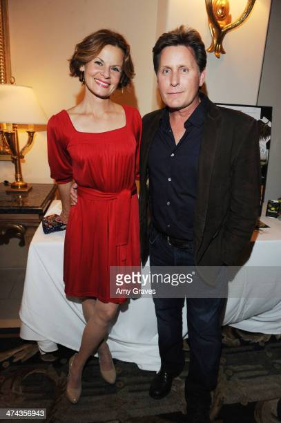 Sonja Magdedski and Emilio Estevez attend the Santa Barbara Wine Auction 2014 A Benefit for Direct Relief at Bacara Resort Spa on February 22 2014 in...