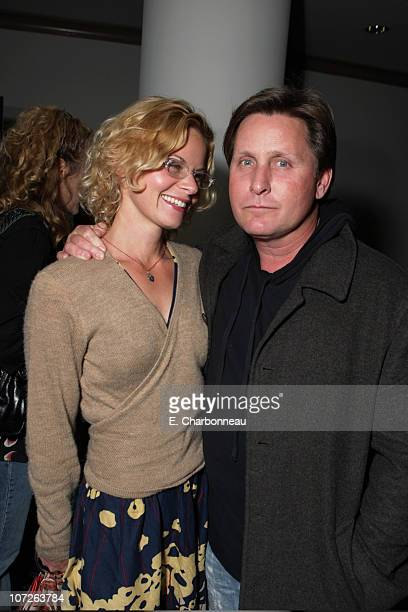 Sonja Magdevski and Emilio Estevez at Paramount Vantage special screening of 'Into The Wild' with a live performance by Eddie Vedder at the Paramount...