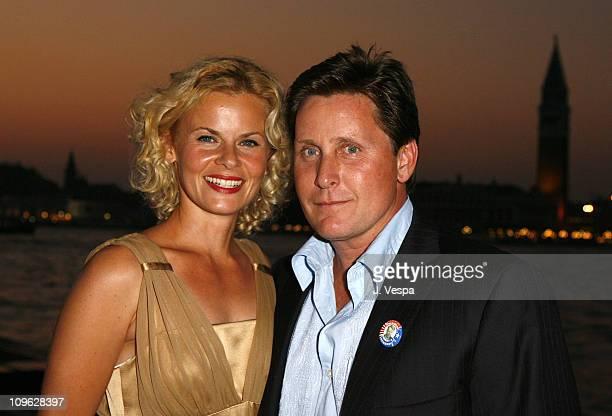 Sonja Magdevski and Emilio Estevez director during The 63rd International Venice Film Festival Missoni Hosts Dinner for the Premiere of 'Bobby' at...