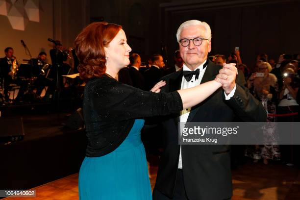 Sonja Mayntz and FrankWalter Steinmeier during the 67th Bundespresseball at Hotel Adlon on November 23 2018 in Berlin Germany