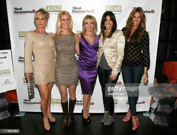 Sonja Morgan Alex McCord Ramona Singer Cindy Barshop and Kelly Killoren Bensimon attend 'The Real Housewives Of New York City' Season 4 Premiere...