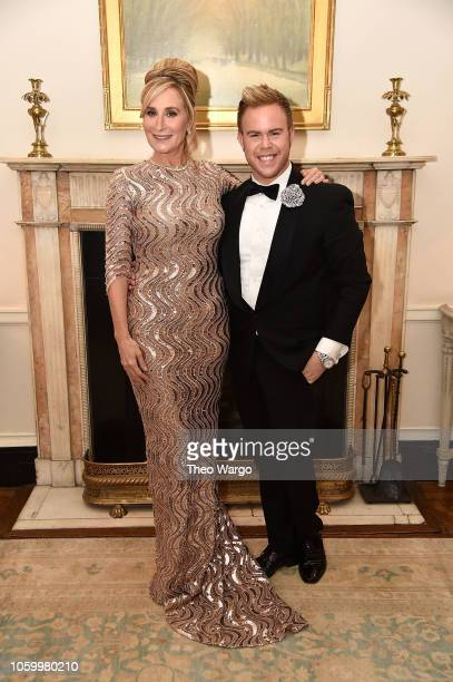 Sonja Morgan and Andrew Werner attend the 2018 American Friends of Blerancourt Dinner on November 9 2018 in New York City