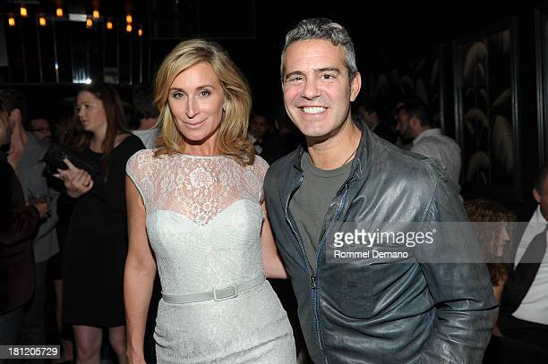 Sonja Morgan and Andy Cohen attend the Four Two Nine Premiere Issue Celebration at No 8 on September 19 2013 in New York City