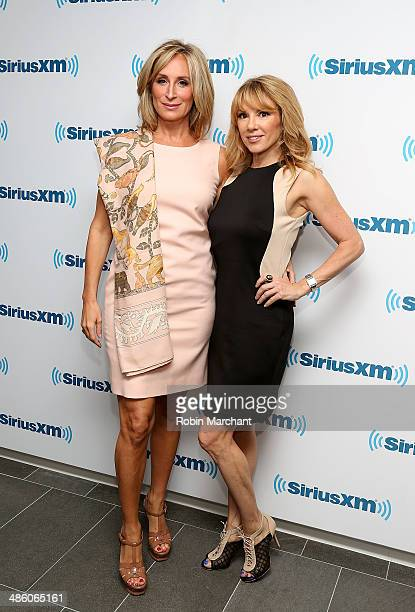 Sonja Morgan and Ramona Singer visits at SiriusXM Studios on April 22 2014 in New York City