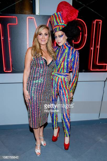 Sonja Morgan and Susanne Bartsch attend the Susanne Bartsch and David Barton's Toy Drive at TMPL West Village at TMPL West Village on December 14...
