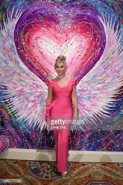 Sonja Morgan attends the Angel wall by Fer Da Silva presented by ALECIAcom at the 2018 Angel Ball hosted by Gabrielle's Angel Foundation at Cipriani...
