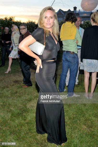 Sonja Morgan attends THE CINEMA SOCIETY DIOR BEAUTY host a screening of GREASE SingALong at Katie Lee's Beach House on July 2 2010 in Sagaponek NY