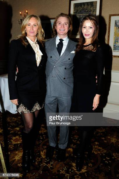 Sonja Morgan Eric Javits and Yung Hee Kim attend In Celebration of the life of Lee Mellis at 21 Club on November 14 2017 in New York City